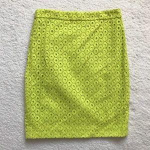 J. Crew No. 2 Pencil Skirt in Circle Eyelet